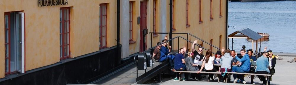 Fikastund på Skeppsholmens folkhögskola